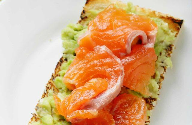 Smoked Salmon Avocado Toast high protein breakfast