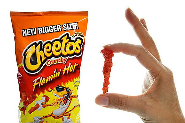 crunchy flamin' hot cheetos