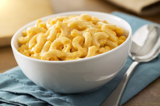Homemade baked creamy macaroni and cheese