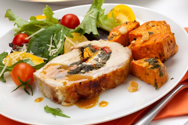 Pork Tenderloin With Sweet Potatoes and Bok Choy