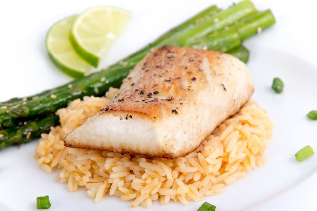 Baked Fish With Brown Rice and Veggies