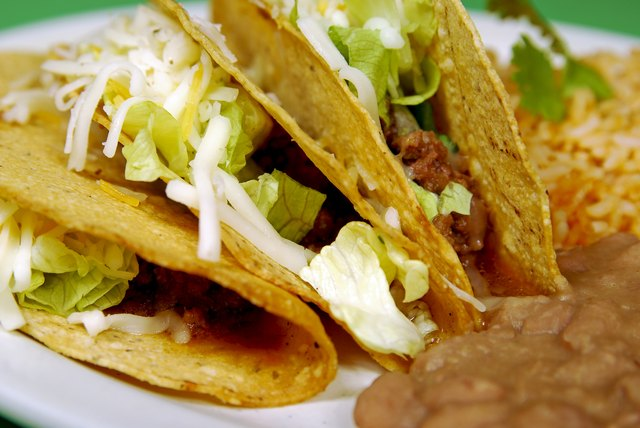 Tacos with refried beans