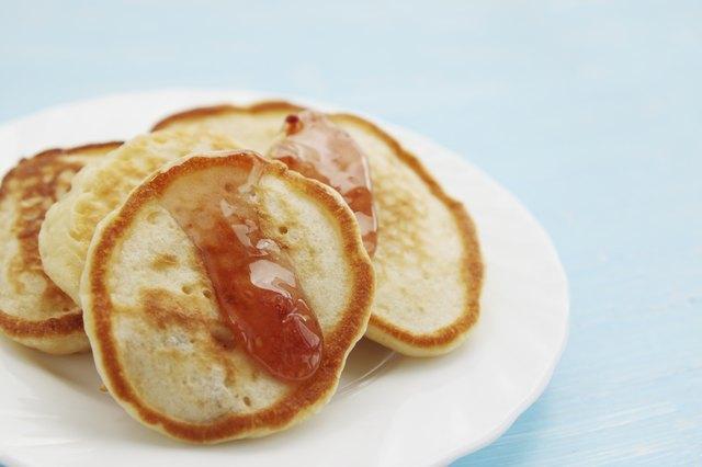 pancakes with raspberry jam
