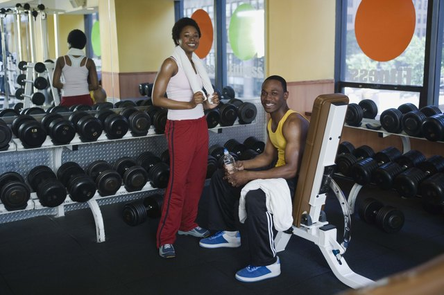 Couple at health club