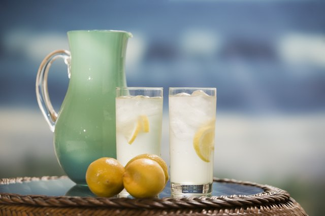Pitcher and glasses of lemonade