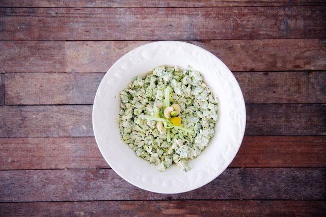 Cauliflower Rice with Cashews and Lemon