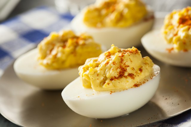 Healthy Deviled Eggs as an Appetizer