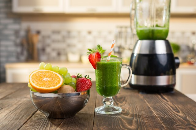 Fresh smoothies in glass