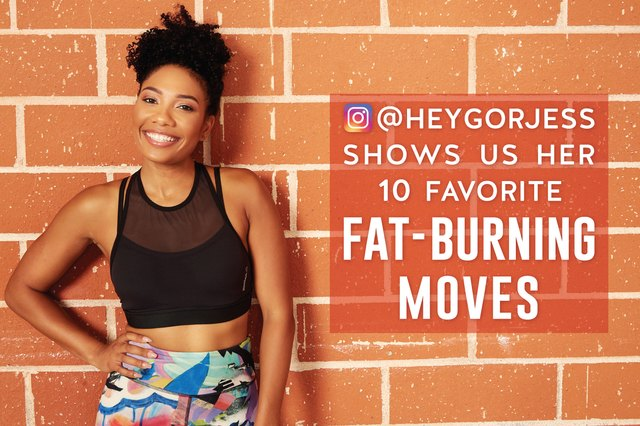 @HeyGorJess shows us her 10 favorite fat-burning moves.