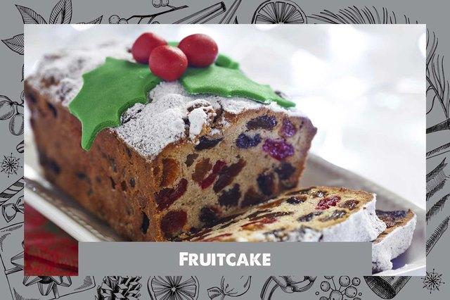 Fruitcake dessert.