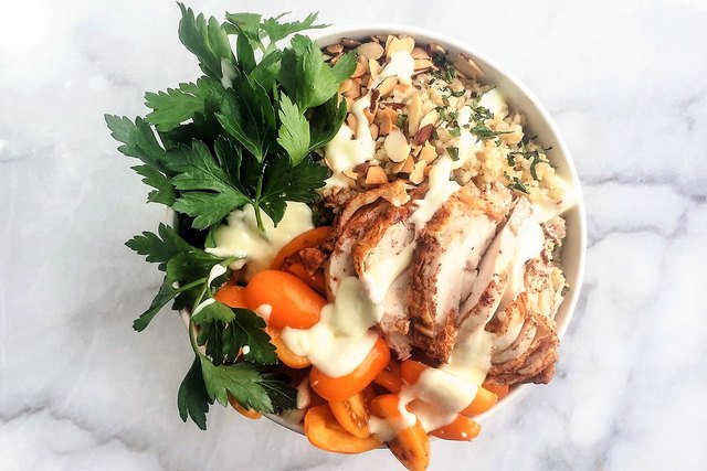 Middle Eastern Chicken Breakfast Superfood Bowl